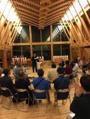 会津坂下の保育園で開かれた木の建築賞2次審査