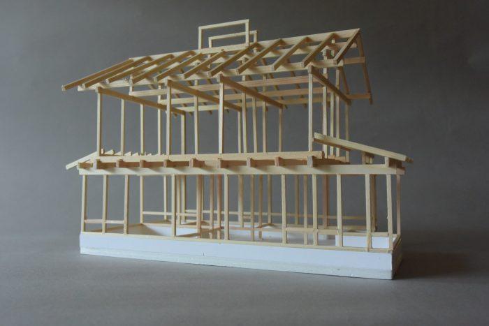 浜田山の家Ⅲ木組の模型