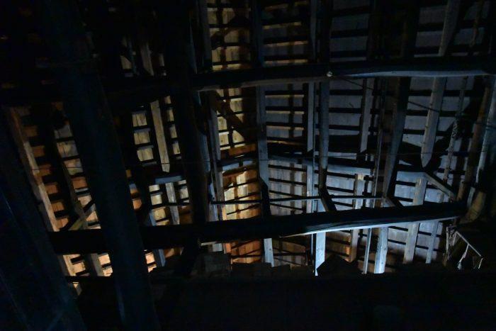 木之本の古民家再生・小屋裏