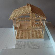 井之頭の家 軸組模型